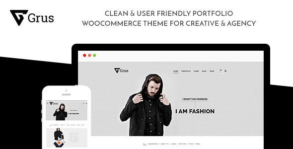 Grus Portfolio WooCommerce for Freelancer & Agency - Portfolio Creative