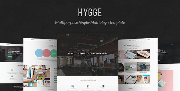 Hygge - Multipurpose Single/Multi Page Template