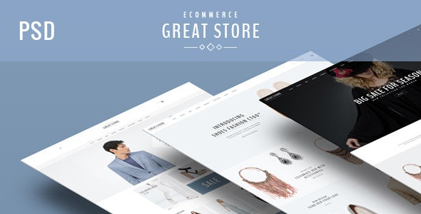 GREAT STORE - eCommerce PSD Template - Retail Photoshop