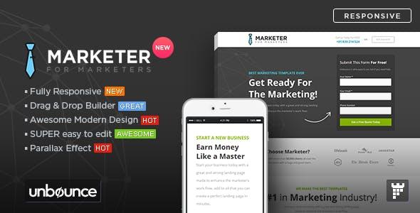 Marketer - Premium Marketing Unbounce Template