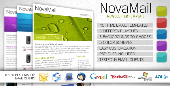 NovaMail Newsletter Template - Newsletters Email Templates