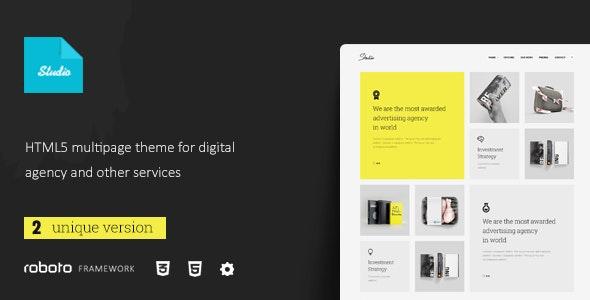 Studio - Multi-Page Responsive Website Template - Portfolio Creative