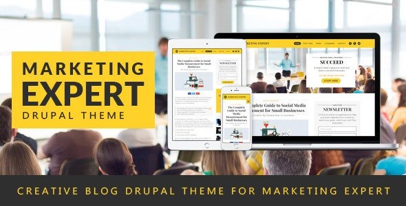 Expert - Blog Drupal Theme for Marketer - Personal Blog / Magazine