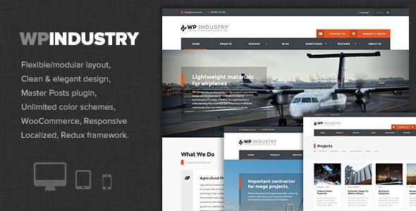 WP Industry - Industrial & Engineering WP theme