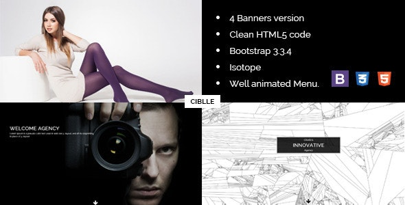 Cibelli Responsive HTML Landing Page Template - Creative Landing Pages