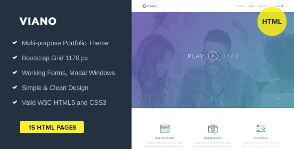 Viano Portfolio HTML Template - Portfolio Creative