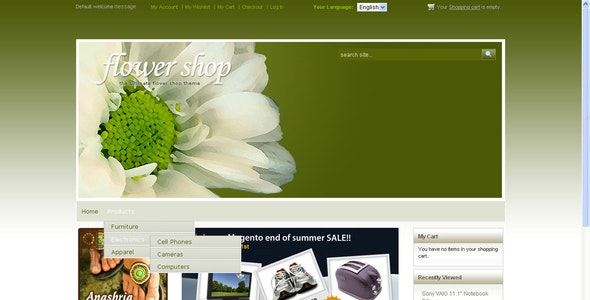 Flower Shop - Shopping Magento