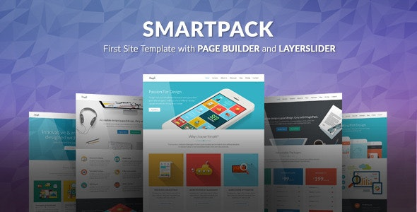 SmartPack - HTML Template With Page Builder - Corporate Site Templates