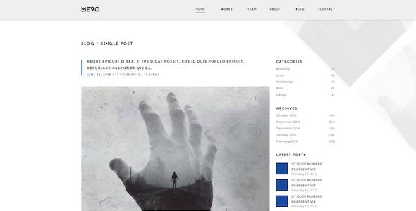 Mevo - One Page PSD Theme