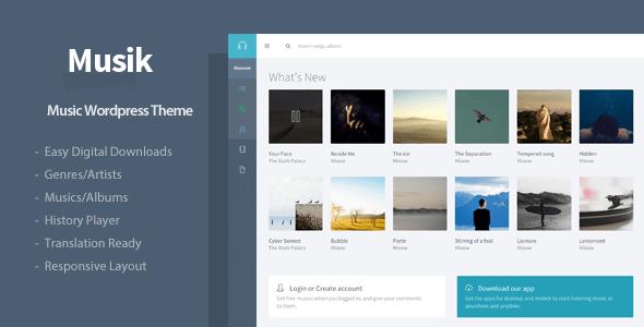 Musik - Responsive Music WordPress Theme - Music and Bands Entertainment