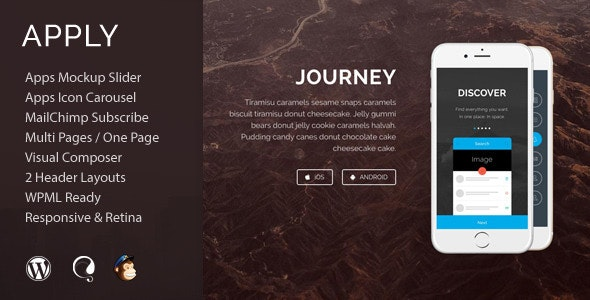 Apply - App Agency WordPress Theme - Software Technology