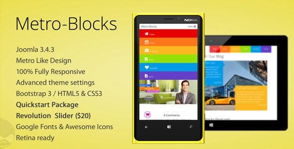 Metro-Blocks - Multipurpose Joomla template - Corporate Joomla