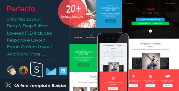 Perfecto - Responsive Email + Drag & Drop Builder - Email Templates Marketing