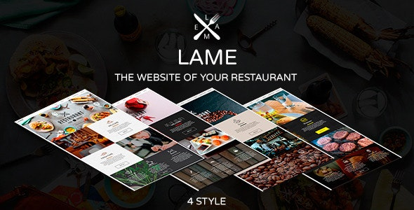 LAME - Restaurant Muse Template - Corporate Muse Templates