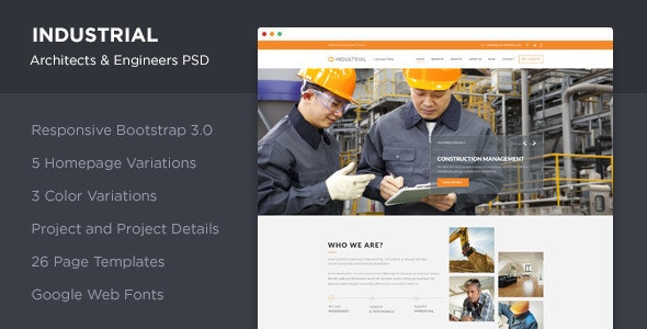Industrial - Architects & Engineers PSD - Corporate Photoshop