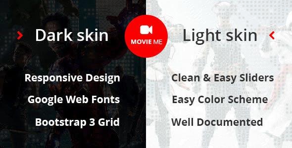 Movie Me - Cinema/Movie Bootstrap 3 HTML Template