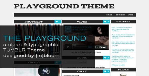 The Playground Tumblr Theme - Blog Tumblr