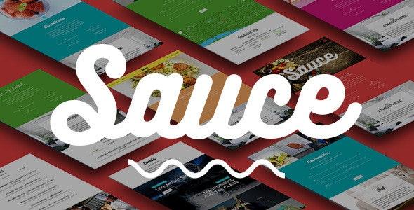 Sauce — Material Design Restaurant & Cafe Template - Restaurants & Cafes Entertainment