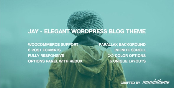 Jay - Elegant WordPress Blog Theme - Personal Blog / Magazine