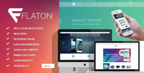Flaton - Responsive OpenCart Digital Theme - Shopping OpenCart