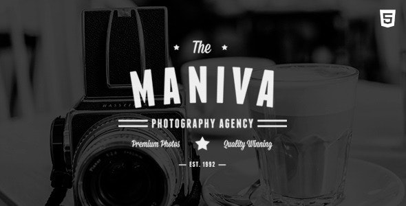 Photography Agency - Maniva HTML Template - Photography Creative