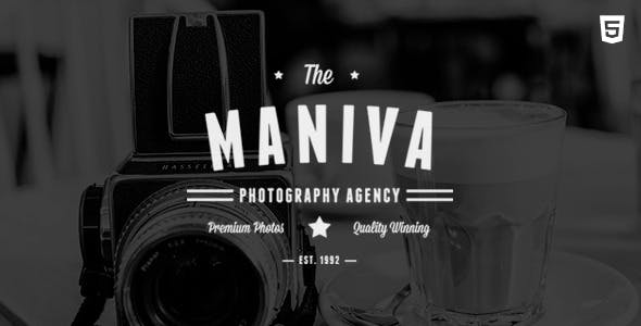 Photography Agency - Maniva HTML Template