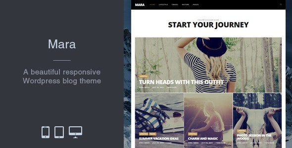 Mara - Beautiful Photo WordPress Blog Theme - Personal Blog / Magazine