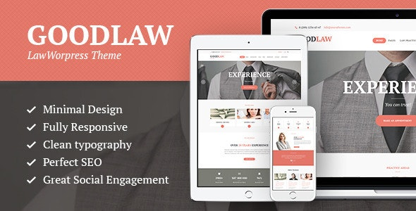 GoodLaw | A Lawyers & Legal Advisor Attorney WordPress Theme - Business Corporate