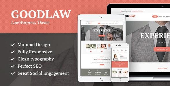 GoodLaw | A Lawyers & Legal Advisor WordPress Theme - Business Corporate