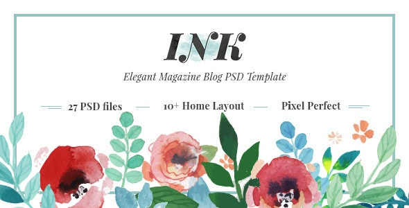 INK – Elegant Magazine Blog PSD Template - Personal Photoshop