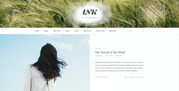 INK – Elegant Magazine Blog PSD Template