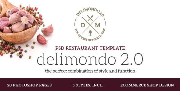 Delimondo 2.0 Photoshop Restaurant Template - Restaurants & Cafes Entertainment