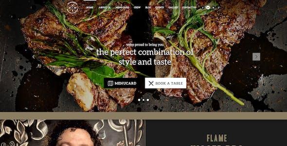 Delimondo 2.0 Photoshop Restaurant Template