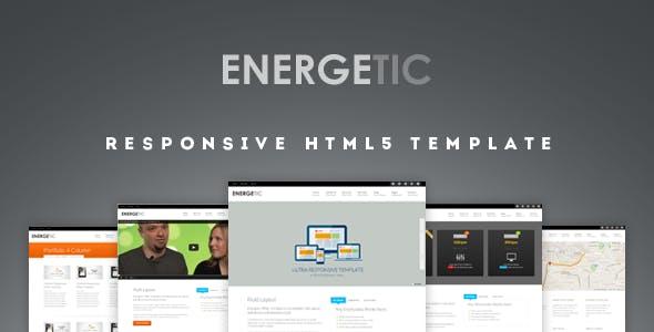 Energetic - Responsive HTML5 Template