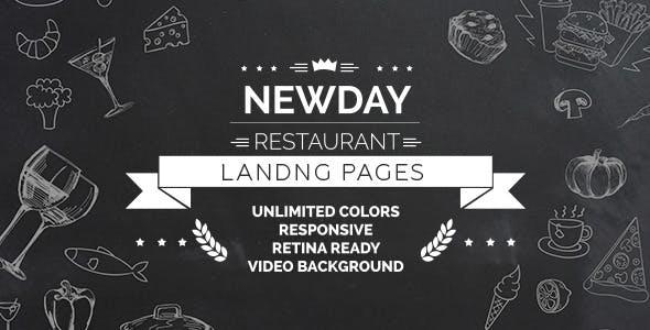 New Day - Responsive Landing Restaurant HTML