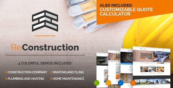 ReConstruction - Contractor & Building Theme