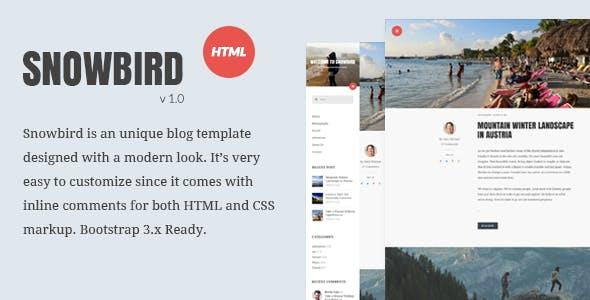 Snowbird Personal Blog HTML Template