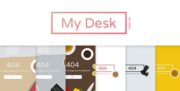My Desk - Pack of SVG 404 Error Pages - 404 Pages Specialty Pages