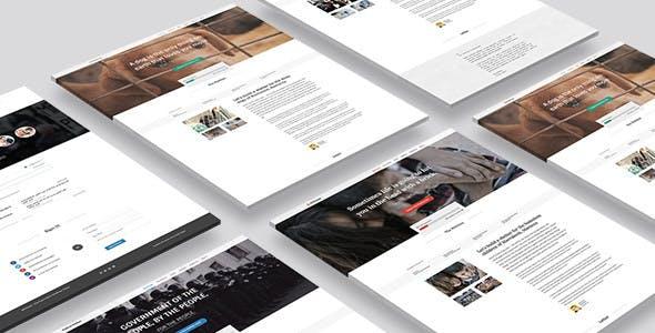 Petition WeChange - One Page WordPress Theme