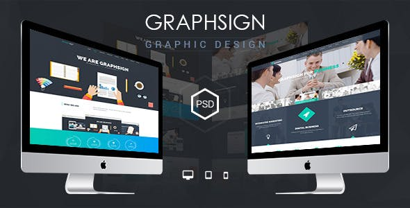 Graphsign - onepage PSD Template