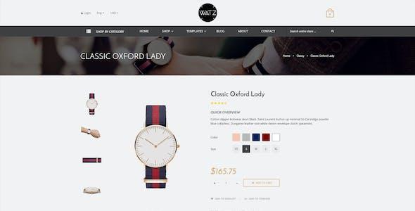 Watch Store Responsive Shopify Theme - WATZ