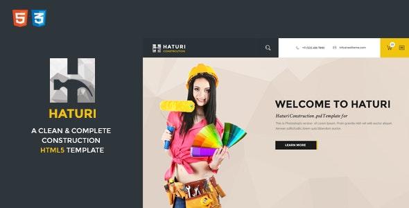 Haturi | Construction Business HTML5 Template  - Business Corporate