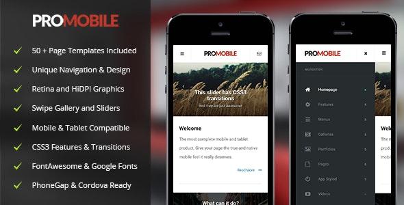 Pro Mobile - Mobile Site Templates