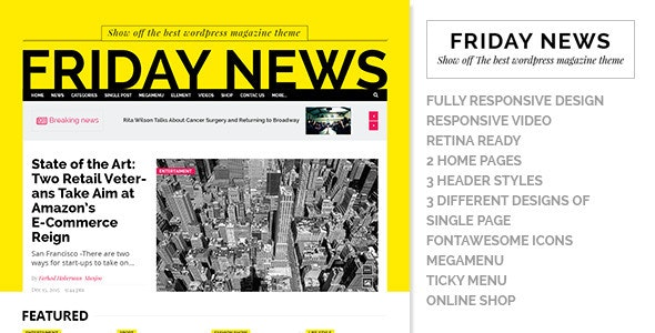 Friday News - HTML5 template - Corporate Site Templates