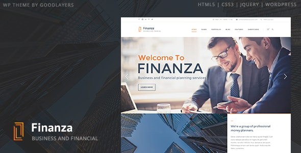 Finanza - Business & Financial WordPress - Business Corporate