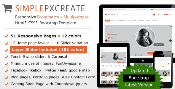 Simplepxcreate Responsive Ecommerce-Multipurpose - Shopping Retail