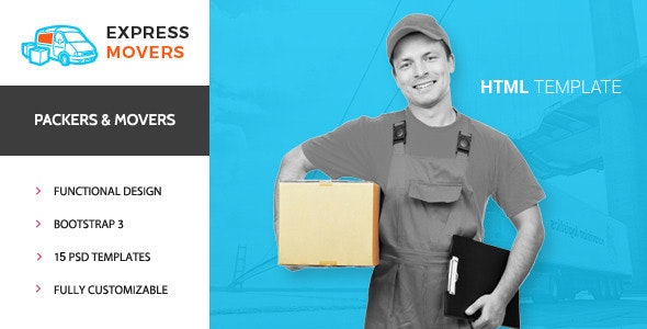 Express Movers - Moving Company HTML Template - Business Corporate
