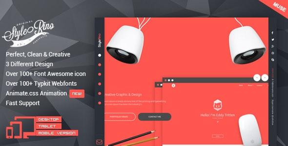 StyleRino - MultiPurpose Portfolio Muse Template - Personal Muse Templates