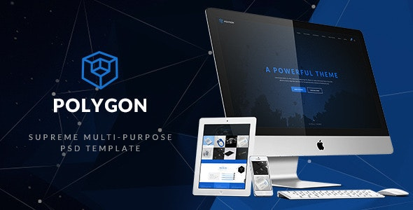 Polygon- Supreme Multi-purpose PSD Template - Corporate PSD Templates