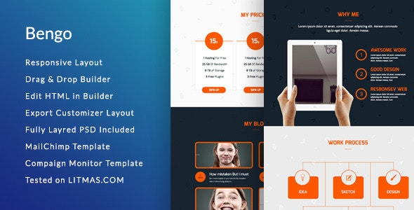 Bengo - Corporate Email Template + Builder Access - Email Templates Marketing